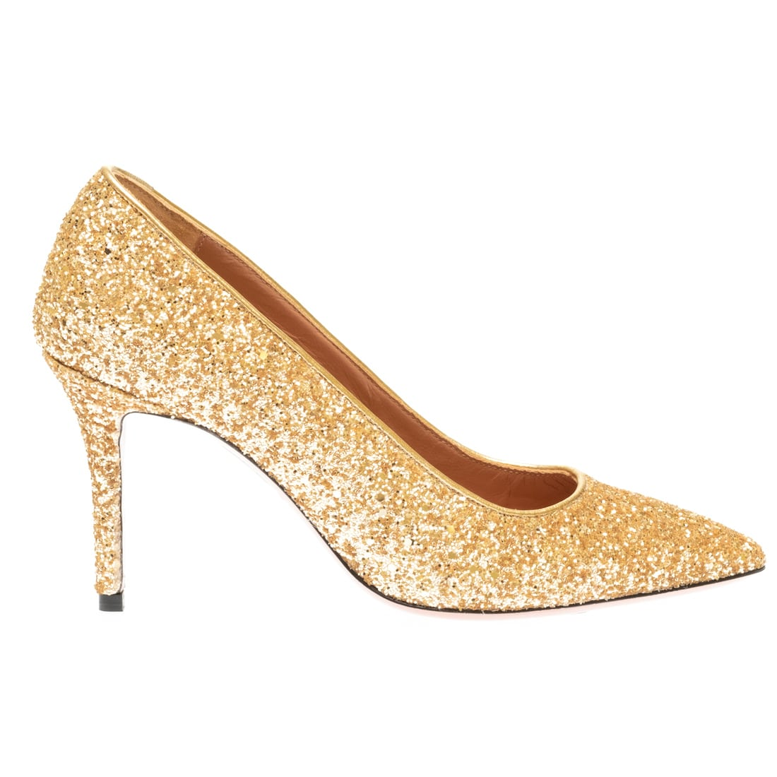 Decollette glitter oro