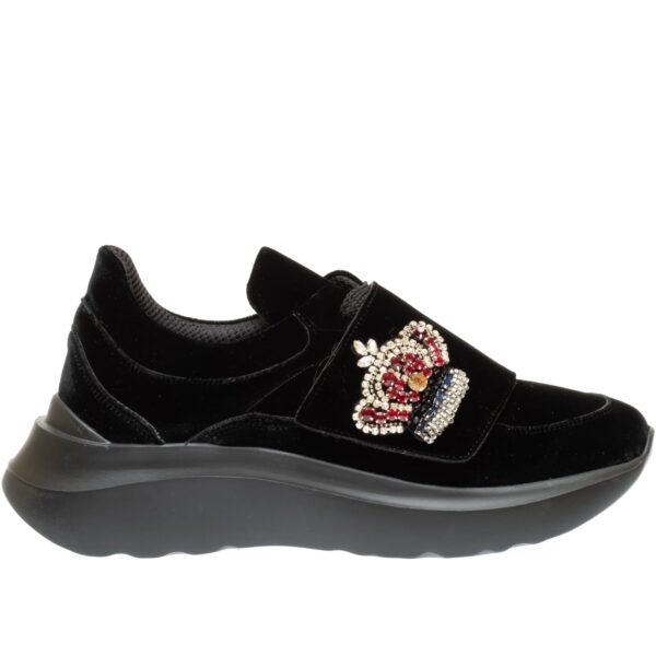 ART S8SN13N - Sneakers in velluto corona