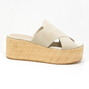 Sandalo con zeppa alta 6 cm | Sabbia